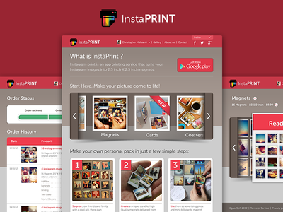 Instaprint mobile web design web print insta