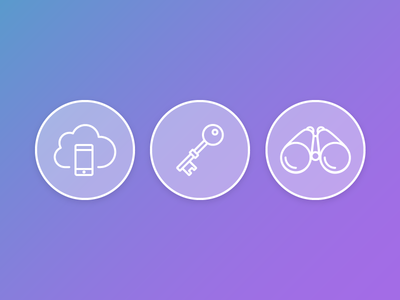 Icons for a landing page icons brand landing hero website