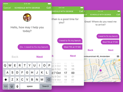 Chat Bot Concept App app ios concept hybrid bot chat chat bot