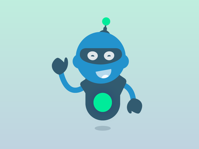 Character design that never made it.. happy robot bot illustration character character design
