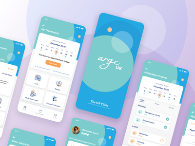 Patient App Concept for a Fertility Clinic calendar design medication tracker dashboard circles blue green ui  ux fertility app medical app product designs product design design app ui design app product ux ui medical clinic fertility