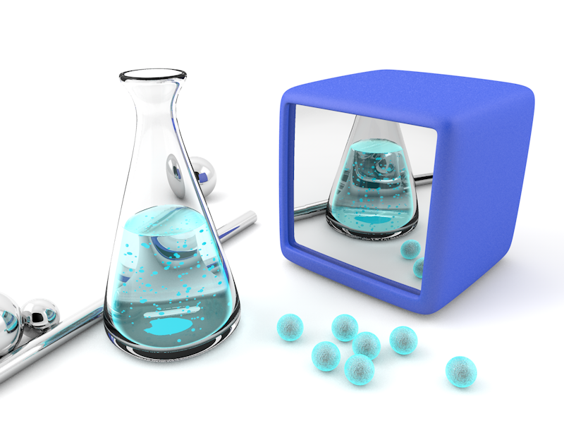 Solubility of imagination flask solubility reflection realism cinema4d design 3d challenge