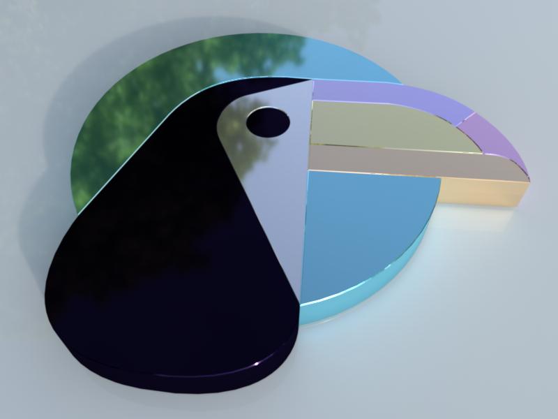 Toucan Logo 3D reflections reflection birds render 3d logos 3d art 3d models 3d modeling realistic cinema 4d c4d toucan 3d logo design 3d logo 3d model logo design 3d cinema4d