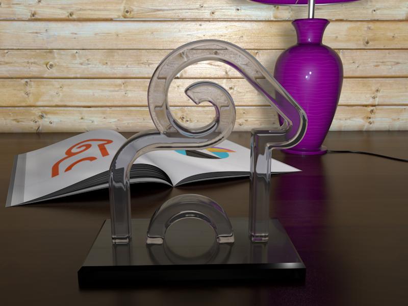 Logo Ram 3D glass ram 2d cinema4d 3d design logo 3d model 3d logo 3d logo design c4d cinema 4d realistic 3d modeling 3d models 3d art 3d logos render reflection reflections