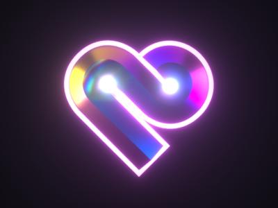 Heart logo 3D