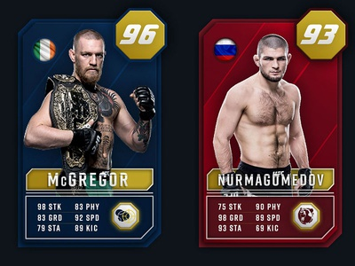 UFC Ultimate team card concept
