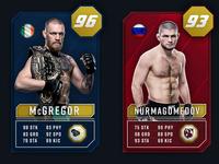 UFC Ultimate team card concept