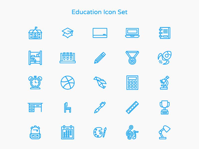 Education Icon Set icon set icon education icon