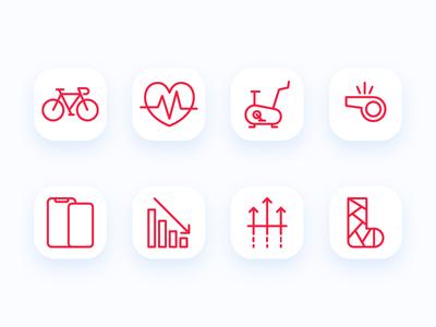 Bike App Icon Set