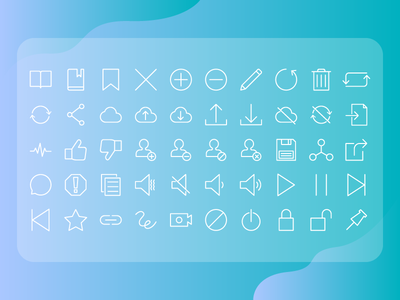 User Interface Action Icon Set