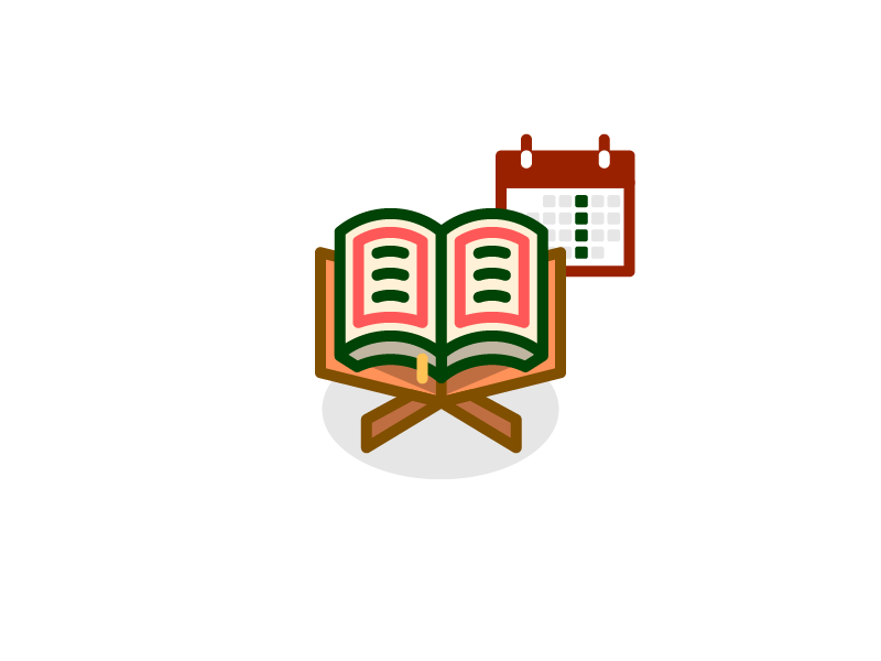 Read Al Kahfi Every Friday Icon moslem icon islam icon book icon read icon koran icon flat icon outline icon iconography icon