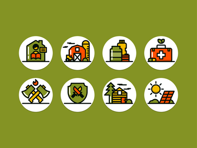 Prepper Icon Set