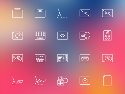 New Ipad Pro Icon Set