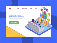 Ad Blocker Banner Illustration