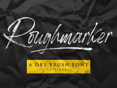 Roughmarker font typography brush lettering cursive font fashion handwriting logotype brand design fonts brand identity font design