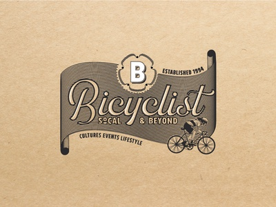 Bicyclist Vintage Logo V.1