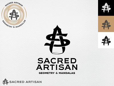 Sacred Artisan kissmetrics logo vintage vintage sa monogram a s monogram compass geometry sacred logo