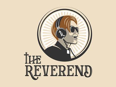 The Reverend flat face logo logos reverened branding vector emblem design illustration badge vintage logo