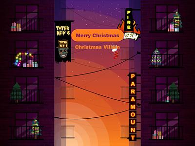 Christmas Villain climbing clinb animation