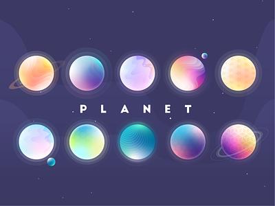 planet purple colour universe planet illustration
