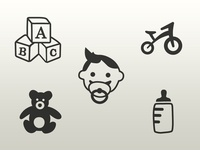 Some cute icons for a sideproject of my brother