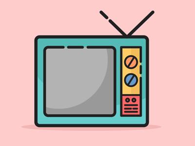 Classic TV Icon vector tv icon