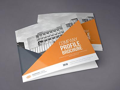Square Trifold Brochure construction colorful clean catalog brochure architecture