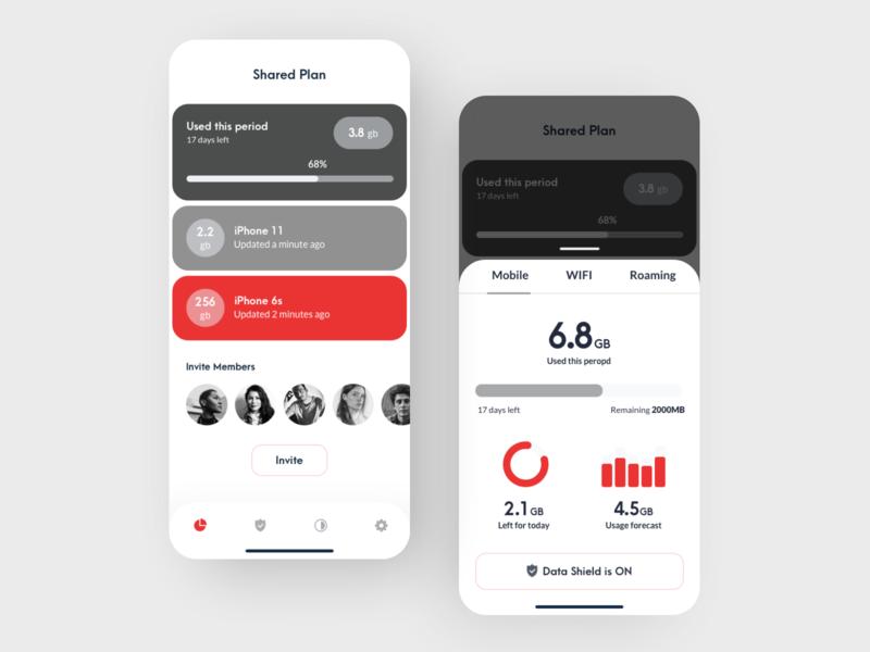 Data Analytics App app concept design mobile first uiux data analytics controls flat mobile app mobile ui