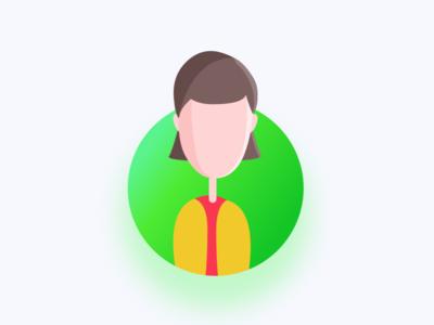 Avatar Brunette design sketch app avatar vector artwork illustration icon avatar icons