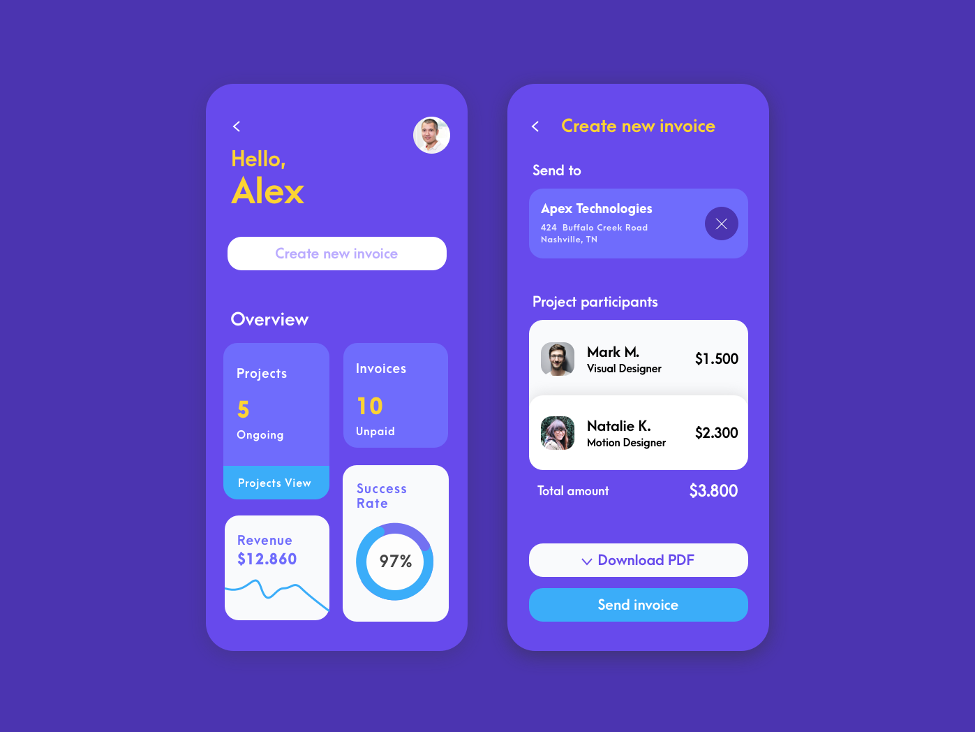 Payment App minimal app analytics dashbaord ios android app iphone likes follower follow me color payment gateway payment app mobile app design mobile app ui-design ux app design app concept