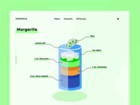 Cocktail Recipe Web UI Illustration