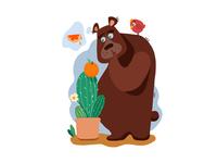 The orange bear