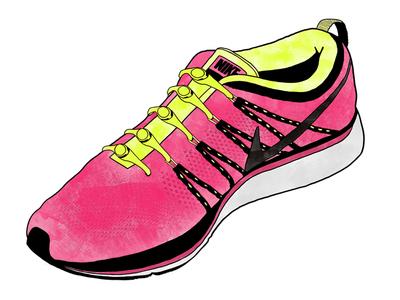 Nike Flyknit Lunar - Watercolor Sneaker