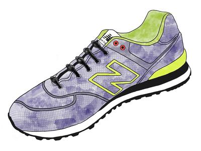 New Balance 574 - Watercolor Sneaker