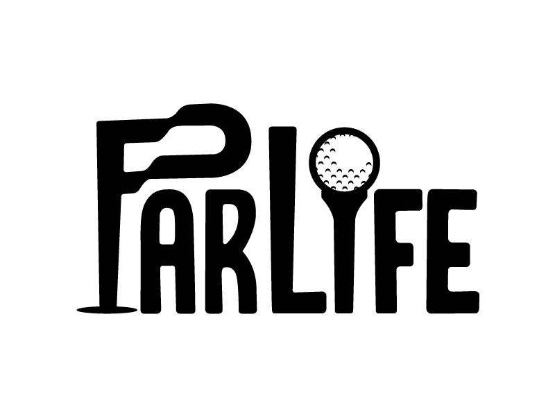 ParLife p logo golf flag golf ball flag logo tee parlife golf par