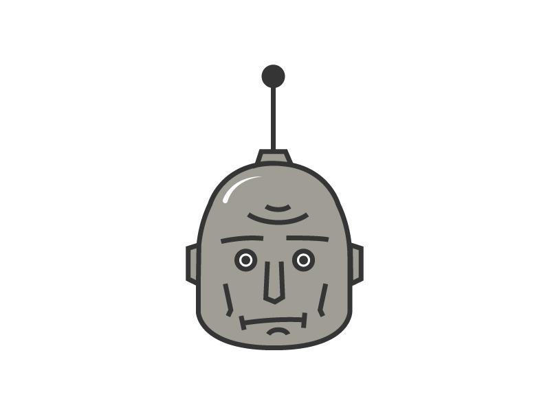Worried Robot face illustration robot worried