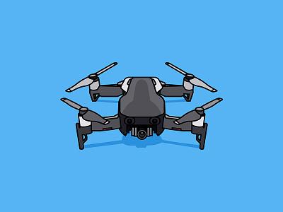Mavic Air mavic air drone uav air mavic dji vector drawing illustration