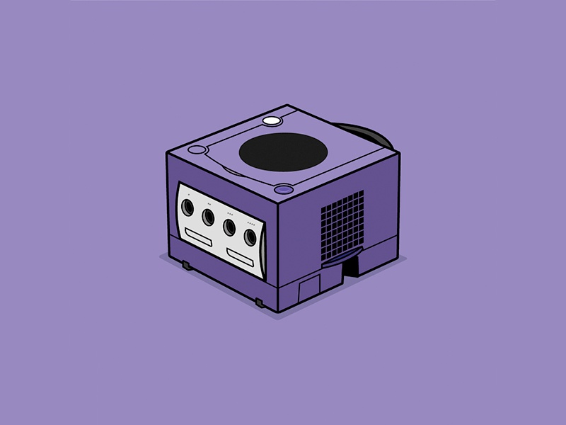 GameCube nintendo gamecube console retro gamecube nintendo vector drawing illustration