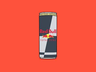 Red Bull energy drink red bull drink energy vector drawing illustration