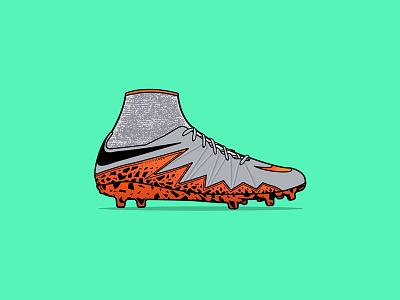 Nike Hypervenom Phantom II ball phantom hypervenom sneaker boot soccer football nike vector drawing illustration