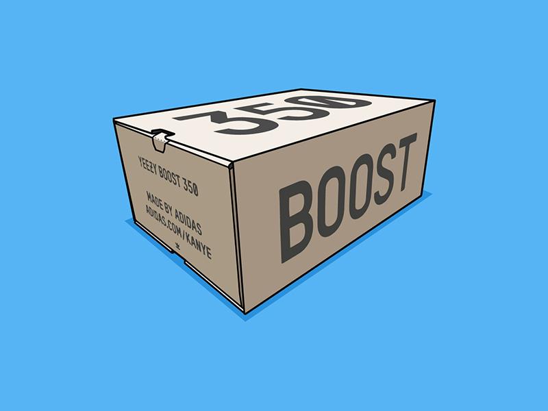 Yeezy Boost 350 v2 Box kanye west yeezy boost 350 yeezy boost kanye vector drawing yeezy boost adidas illustration