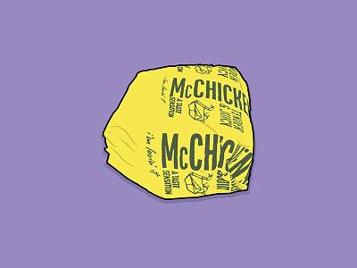 McChicken sandwich food mcdonalds chicken mcchicken vector drawing illustration
