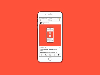 iPhone 6 instagram iphone vector drawing illustration
