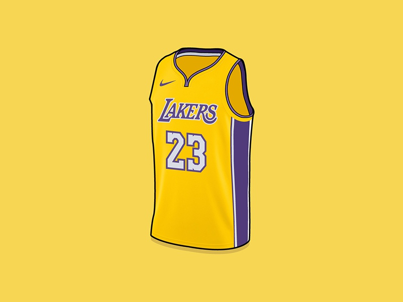 separation shoes 94f3d 6f66e LeBron James LA Lakers Jersey by Mista Matt on Dribbble