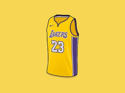 LeBron James LA Lakers Jersey la lakers los angeles lebron james jersey lakers lebron vector drawing illustration