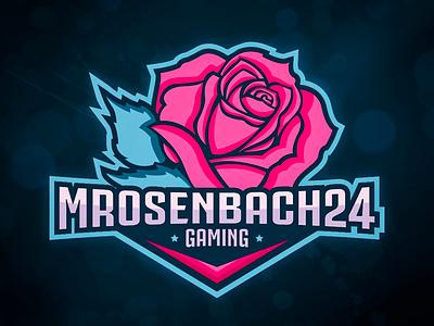 Esports Logo typography teal glow pink xbox gamer gaming rose logo esports