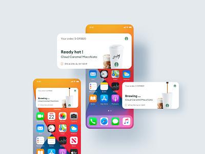 Starbucks - iOS 14 Widget explorations screen home home screen iphone apple ios statutes status ordering notifications notification explorations order status order coffee starbucks widgets widget ios 14 ios14
