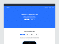 Landing page - Chat client Happening