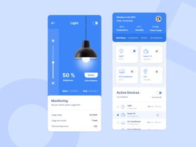 Smart Home App design ui smarthome