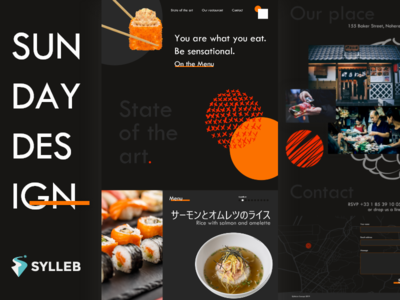 Concept Sushi Restaurant - Sunday Design ux web design website webdesign design